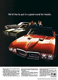 1969 Pontiac Firebird Ad Digitized & Re-mastered Car Poster Print