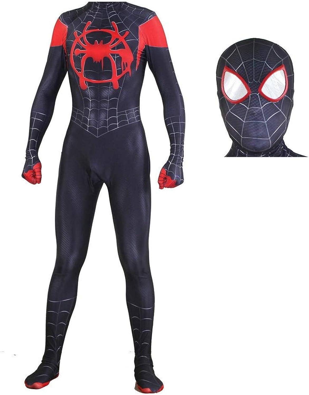 giocattoligiocoS 3D Spider-uomo Cosplay Costume Adulto Lycra Calzamaglia Elastica Htuttioween Movie Stage Puntelli ( Coloree   neroa , Dimensione   S. )