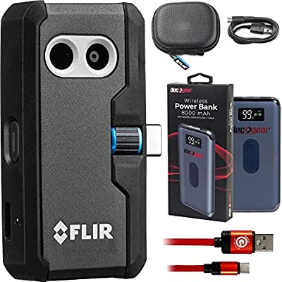 FLIR One Pro LT Thermal Imaging Camera for Smartphones with Deco Gear Power Bundle