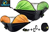 TAPINSTEP New 2019 Hammock with Mosquito Net Camping Backpacking Bug Single Double Person Outdoor Portable Hammocks Tree and Netting Parachute Jungle Hammock 290x145cm