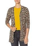 Amazon Essentials Lightweight Open-Front Cardigan Sweater Suéter, Camel Heather Animal, S