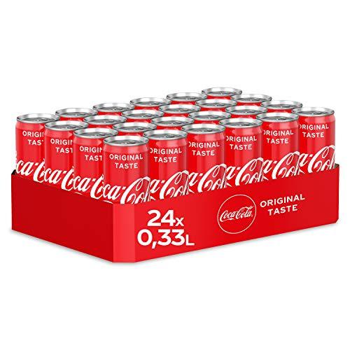 Coca-Cola Classic, Pure Erfrischung mit unverwechselbarem Coke Geschmack in stylischem Kultdesign, EINWEG Dose (24 x 330 ml)