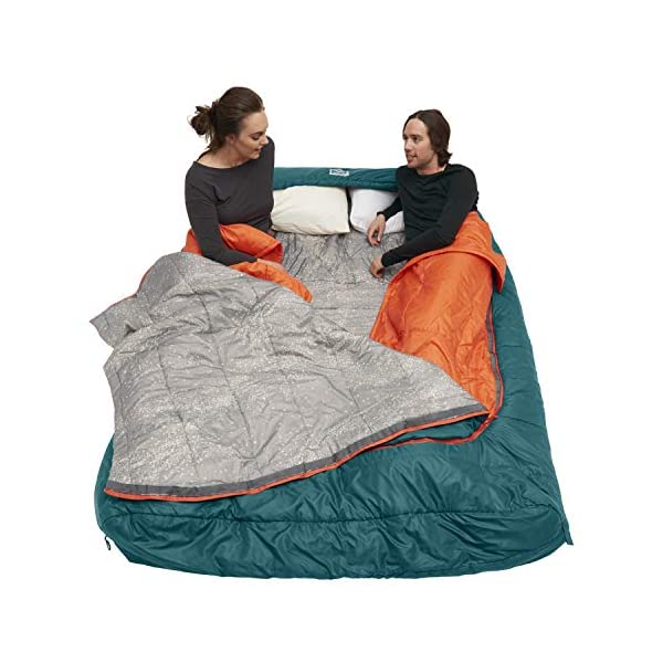 Kelty Tru.Comfort Doublewide 20 Degree Sleeping Bag – Two Person Synthetic Camping Sleeping Bag for Couples & Family…