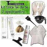 Kit Tinta Technique fai da te 2 applicazioni 9.1 BIONDO CH.MO CENERE