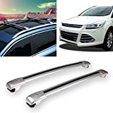 Yeeoy Aluminum Crossbar Roof Rack Replacement for 2015-2018 Ford Escape Kuga Locking Roof Rail