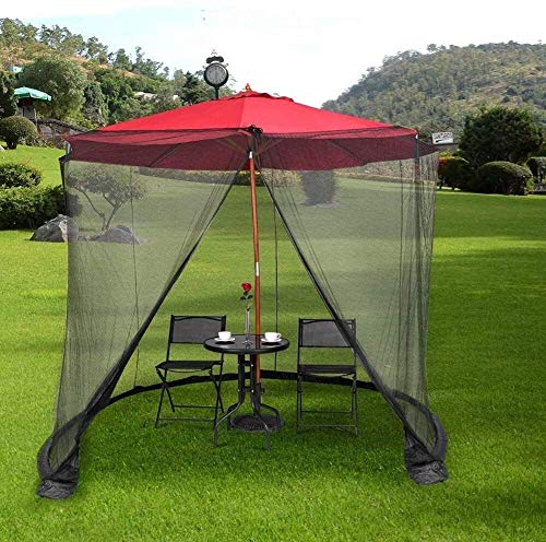 NBVCX Decoración de Muebles Sombrilla de Patio Mosquitera Jardín al Aire Libre Cubierta de Mosquito Cubierta de sombrilla de Patio Tiendas de campaña Mosquitera Pantalla para sombrilla Gazebo