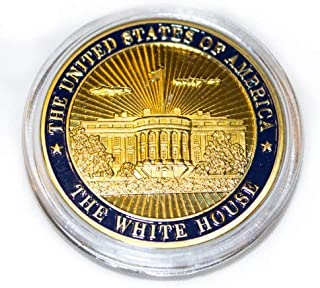 The White House Presidential Seal Coin in Wood Box - Collectible Coin