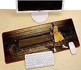 JIACHOZI teclado raton y alfombrilla gaming Jugador de baloncesto creativo 900×400×3 mm alta precisión con cualquier ratón, base de caucho natural, alta comodidad, tela, base de caucho, compatible con
