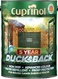 Cuprinol Ducksback 5 Year Waterproof for Sheds and Fences, 5 L - Forest Green