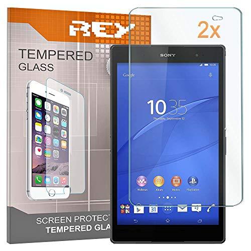 2X Protector de Pantalla para Sony Xperia Z3 Compact 8.0', Cristal Vidrio Templado Premium, Táblet