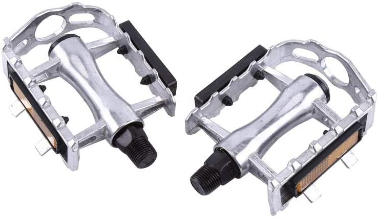 VGEBY1 Bicycle Pedals Aluminium Alloy Bike Platform with Reflective Bars Cycling Riding Spare Parts