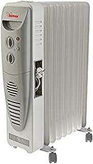 Bimar S759T - Calefactor (Calentador de aceite, Cerámico, Interior, Gris, 2400 W, 800 W)