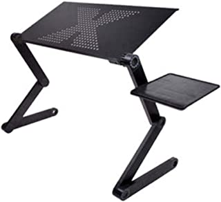 2021 New Laptop Table Portable Folding Computer Desk Notebook Desktop Stand Computer Adjustable Table with Mouse Board (Co...