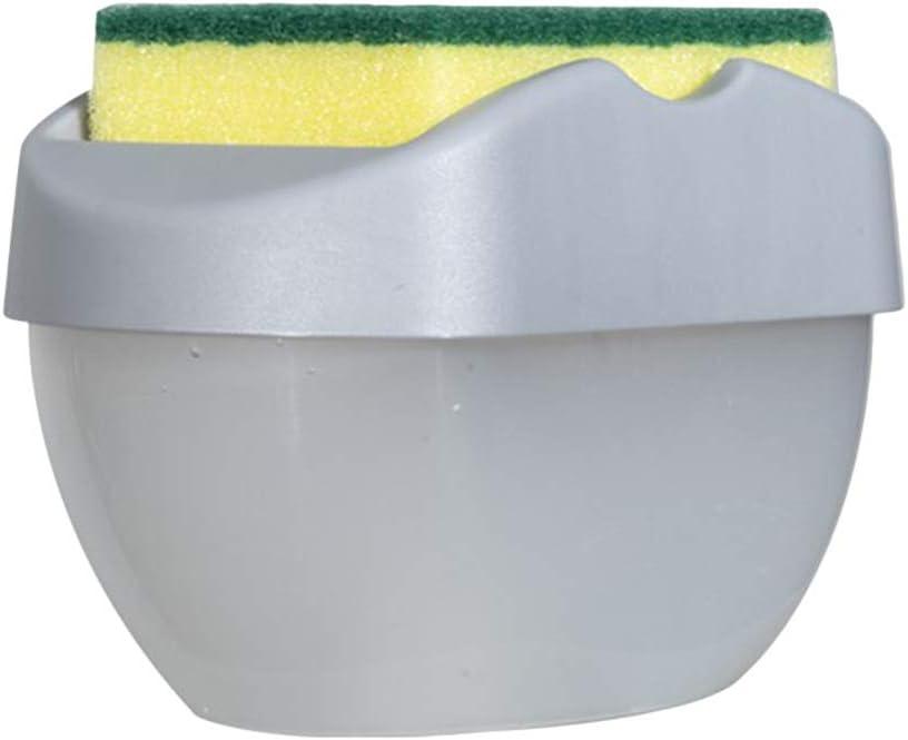 Folewr Kitchen Sponge Brush Soap Dispenser Pump Manual Press Cleaning Liquid Dispenser Container Soap Organizer Liquid Soap Box Dishwashing Tool
