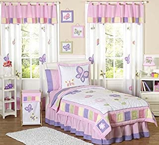 Pink and Purple Butterfly Collection Children's Bedding3pc Full/Queen Set by Sweet JoJo Designs