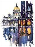 Poster 50 x 70 cm: Regnerischer Tag in Sankt Petersburg,