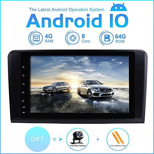 ZLTOOPAI Auto Multimedia Player für Mercedes Benz GL ML CLASS W164 X164 ML350 ML450 ML500 GL320 GL450 Android 10 Octa Core 4G RAM 64G ROM 9 Zoll IPS Double DIN Autoradio Audio Stereo GPS Navigation