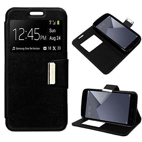 iGlobalmarket Xiaomi Redmi Note 5A / Note 5A Prime, Funda con Tapa, Apertura Lateral Tipo Libro, Cuero PU, Color Negro