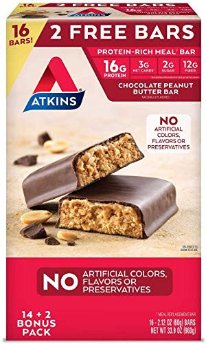 Atkins ProteinRich Meal Bar 16ct Chocolate Peanut Butter 212 Ounce 16 Count