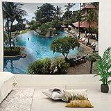 YOYNZY Tapestry Bali Hermoso Paisaje Tapiz Bohemian Beach Sea Tapiz Tapiz Decoración del Dormitorio Colgante De Pared E para El Dormitorio Sala De Estar Decoración del Hogar-130X150Cm