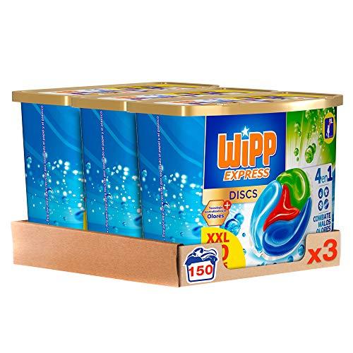 Wipp Express Detergente Antiolores en Cápsulas 50 Discos -