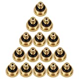 LOOYUAN 20pcs Brass Misting Nozzles for Outdoor Cooling System 0.012' Orifice (0.3 mm) 10/24 UNC Garden