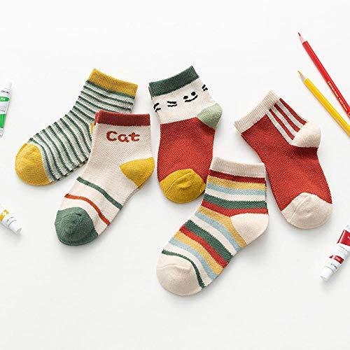 MIWNXM 10 Pares Spring Summer Children Gift Soft Cotton Socks Boy/Girl/Baby/Cute Cartoon Animal Stripe Dots Fashion Sport Socks