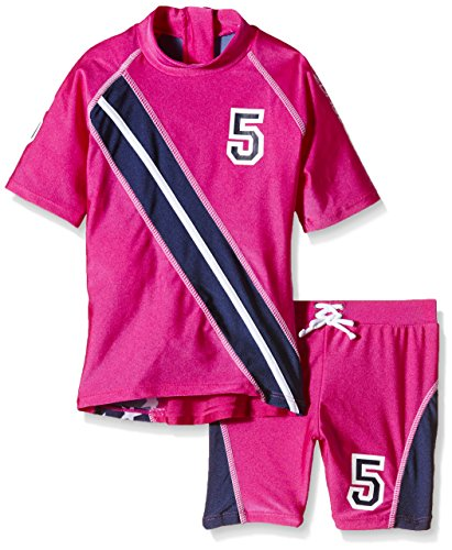 Zunblock Mädchen UV 50 Plus Sets Stars and Stripes, Sugarpink/Navy, 86/92