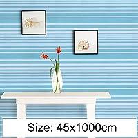 家の装飾の壁のステッカー グレートクリエイティブPVC自着レンガ装飾壁紙ステッカーのベッドルームリビングルームの壁防水の壁紙ロール、サイズ:45×千センチメートル(アンバー) (色 : Khaki)