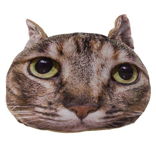 Out of the Blue Kissen mit fotorealistischem Tier-Motiv Katze, Maße (H x B x T): 21 x 35 x 11, Material: 100% Polyester, Dekokissen fürs Jugendzimmer oder sehr originelles Sofakissen