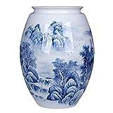 JHDDHP3 Grande Azul y Blanco Porcelana Chino Paisaje Pintado a Mano Pintura a Mano...