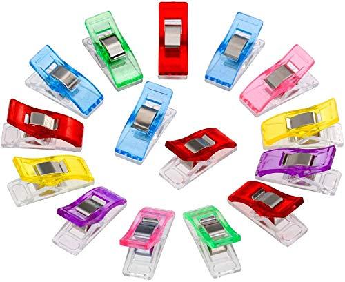 PRENKIN 60Pcs plastica Multiuso Appendini Clip colorato per Cucire Morsetti Craft Quilt Clip Binding