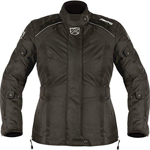 182934XL00 - Akito Tornado Ladies Motorcycle Jacket XL Black