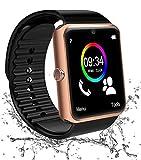 Reloj Inteligente Bluetooth, Smartwatch Impermeable Smart Watch con Camara, SIM/TF Ranura Whatsapp Sports Podómetro Pantalla Táctil Reloj Bracelet para Android Teléfono Hombre Mujer Niño Niña