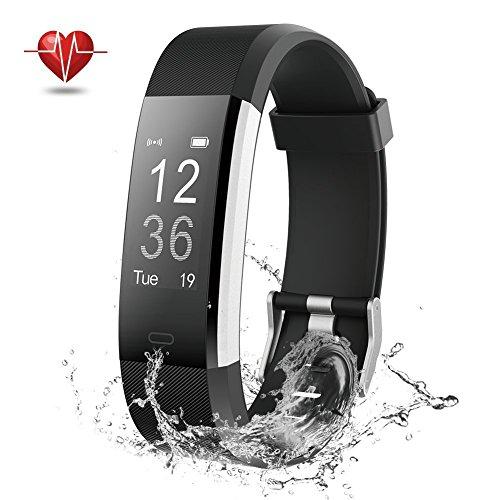 NOVETE Fitness Tracker, Fitness Armband mit Herzfrequenzmesser, Schrittzähler, Schlafmonitor, Aktivitätsmesser, Anruf/SMS Alarm, IP67-Wasserdicht, Bluetooth 4.0 und für Android Sowie iOS