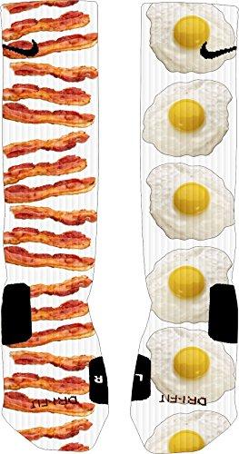 Bacon and Egg Custom Elite Socks (Small)