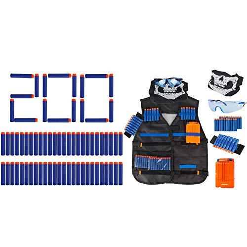 Little Valentine 200-Dart Refill Pack + Tactical Vest Kit for Nerf Guns N-Strike Elite Series