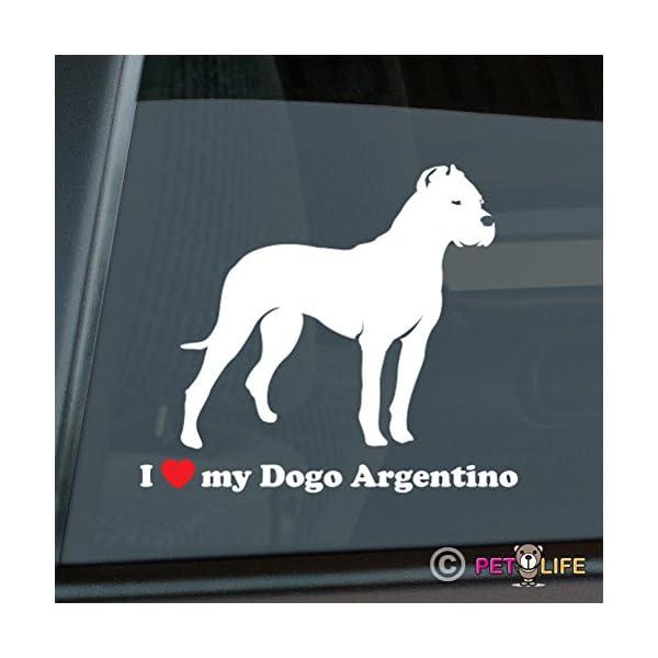 I Love My Dogo Argentino Sticker Vinyl Auto Window v2 1