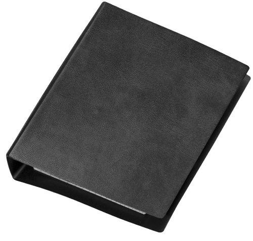 Veloflex 1164280 Taschenringbuch, Taschenbuch, Ordner DIN A6, 4-Ring-Mechanik, mit 50-Blatt kariert, schwarz