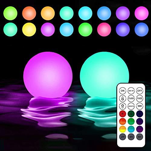 DreiWasser Poollicht LED, 16 RGB Pool Beleuchtung mit Fernbedienung Timer für Schwimmbad, Spa, Deko, Schwimmpool Whirpool IP68 (2)