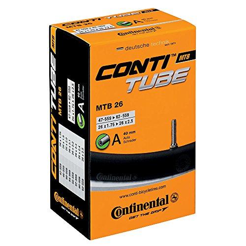 Continental 0181611 'MTB 26' Schlauch, 26x1.75/2.50' 47/62-559 AV 40 mm, schwarz (1 Stück)