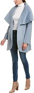 Women's Marla Heavy Double face Wool Wrap Coat Oversized Collar Blue