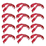 YARNOW 12pcs Trongs Prep Eating Utensil Food Finger Tongs Plastic Anti Scald Clips for Cheesy Greasy Sticky Dinner Utensil Accessories