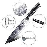 SHAN ZU Damastmesser Kochmesser 67 Schichten Damaststahl Küchenmesser mit G10 Griff 20cm - PRO Series - 4