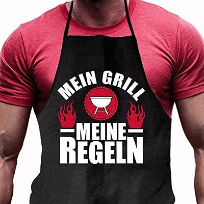 Shirtoo Grillschürze Mein Grill - Meine Regeln - Lustiges Geschenk für echte Männer und Grill-Fans