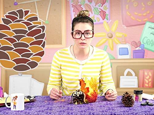 Fun Fall Crafts! DIY Owl Pinecone & Leaf Jar!