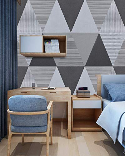 Grey Wallpaper Peel and Stick Wallpaper Diamond Contact Paper Geometric Self Adhesive Removable Wallpaper White Trellis Wallpaper Stick and Peel Shelf Drawer Liner Wall Covering 17.7'x78.7'