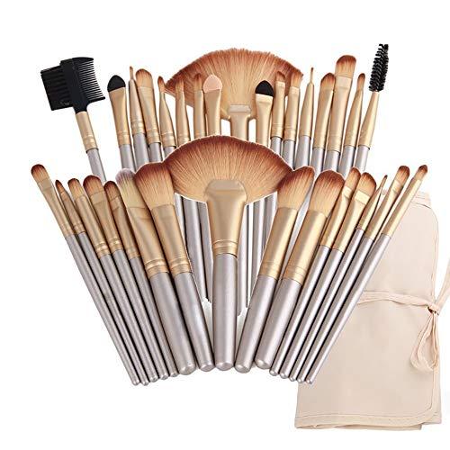 L.L.QYL Brosses Pinceaux de Maquillage 32 pièces Set de pinceaux de Maquillage Professionnel Fondation de Kabuki synthétique Assemblage de Blush Visage Eyeliner Shadow Maquillage pour Les Femmes