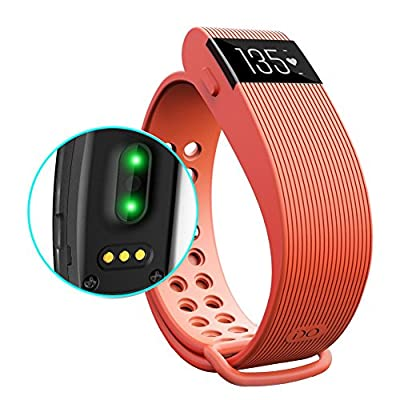 Eiison HR Fitness Tracker with Heart Rate Monitor + Sleep Monitor + Pedometer, Waterproof Activity Fit Watch with Touch Screen, Bluetooth Sync Smart Bracelet for iPhone Samsung LG Nexus Sony HTC Oneplus, Sports Exercise Workout smartband