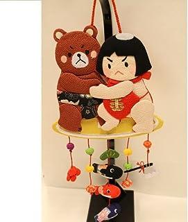 季節の壁掛け飾り[金太郎(相撲)]ちりめん 吊るし飾り